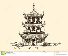 chinesische-pagode-31638166.jpg (1300×1065)