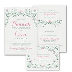 Love flowers? You can have it all at a price you can afford with the floral design on this ValStyle wedding invitation.