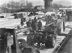 German 88s in Rzhev  february 1942  The 88 mm gun (eighty-eight) was a German anti-aircraft and anti-tank artillery gun from World War II. It was widely used by Germany throughout the war, and was one of the most recognized German weapons of the war. Development of the original models led to a wide variety of guns.