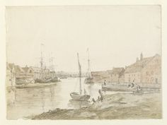 Warehouses and shipping on the Orwell at Ipswich, John Constable, 1803