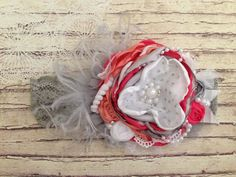 Coral Crush. Custom couture headband. by LondyLouHeadbands on Etsy, $25.99