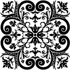 designer etching stencils | Patterns the black areas shown represent those areas of the design ...