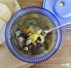 Magical Leek Soup~  from the book French Women don't get fat