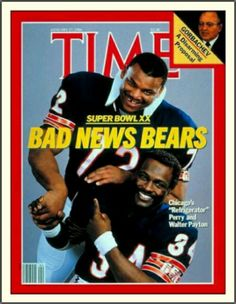 William Perry & Walter Payton: Time Magazine (01/27/1986)
