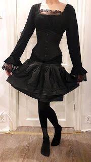 Caroline Sometimes: Party Look & More Fun Stuff    #goth #gothgirl