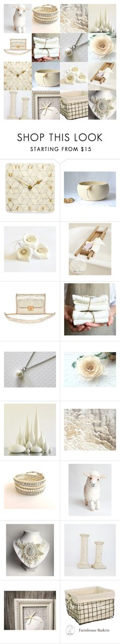 """""""Cream Gifts"""" by andreadawn1 ❤ liked on Polyvore featuring Rick Owens Lilies and Rustico"""