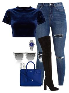"""Untitled #764"" by ahmonie ❤ liked on Polyvore featuring Alexander Wang, Yves Saint Laurent, Gianvito Rossi, Emilio! and Rolex"