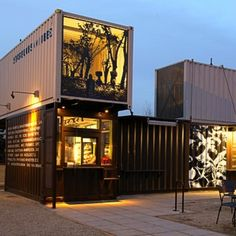 Shipping Container Shops   Starbucks opens store made from recycled shipping containers