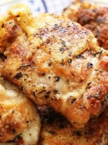 Pan Fried Italian Chicken - coconut oil or light flavored olive oil - chicken - kosher salt - freshly ground black pepper - dried oregano - dried basil - herbs de provence - Want-to-Share.com