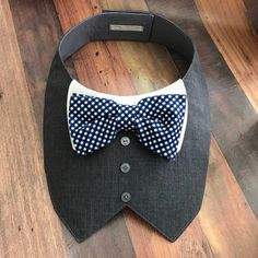 Charcoal Gray Tuxedo/Tux bib-style bandana for dogs or cats | Etsy