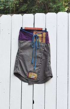 Reserved/Upcycled Boho Olive Green Wrap Skirt by RebirthRecycling, $55.00