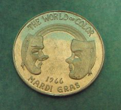 Mobile AL Mardi Gras Doubloons 1 IM Infant Mystics 1966 World Of Color Silver