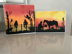 Australian Christmas Cards, Unique Christmas Cards, Unique Cards, Distress Ink Techniques, Horse Cards, Card Companies, Western Theme, Card Making Inspiration, Paper Roses
