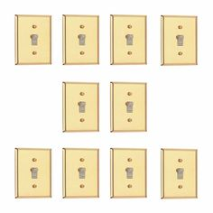 10 Classic Bright Solid Brass Solid Brass Single Toggle or Dimmer switchp