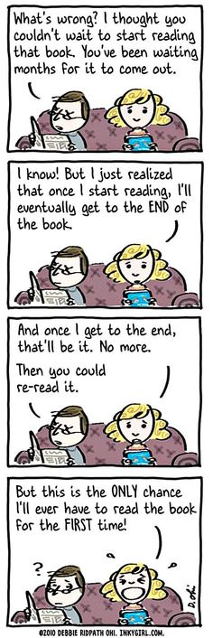 so absolutely true about every new book I start.