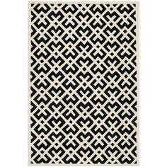 Safavieh Handmade Moroccan Black Geometric Pattern Wool Rug (4' x 6')