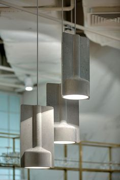 Mold Concrete Pendant Lamp by Sokolova Design for Ligne Roset Concrete Light, Concrete Lamp, Pendant Lamp, Pendant Lighting, Cement Design, Lighting Design, Lamp Design, Interior Lighting, Lamp Light