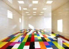 Lego floor by Valentino Fialdini. Building blocks imagery.