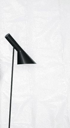 aj floor lamp ; arne jacobsen for louis poulsen lighting inc.