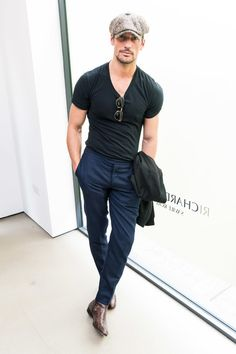 David Gandy attends the Richard James presentation during the London Fashion Week Men's June 2017 collections on June 11, 2017 in London, England.