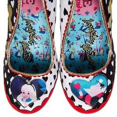 Irregular Choice Queen Of Hearts Heel Shoes (Red/Black)