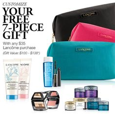 Dillards is offering this Lancome GWP ($35 qualifier). http://cliniquebonus.org/lancome-gift-with-purchase/