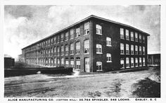 Alice Cotton Mill  now closed