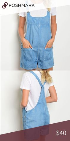 ADORABLE DENIM OVERALL SHORTS   Adorable denim overalls shorts  Shorts