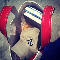 Beach Essentials #anchoredstyle #beachread #tote #preppy