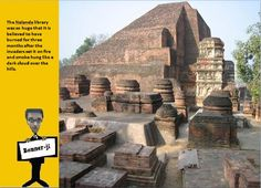 The Nalanda library was so huge that it is believed to have burned for three months after the invaders set it on fire and smoke hung like a dark cloud over the hills.  #didyouknow .#Travel #Tourism #Religion #Hindu #mythology #art #craft #facts #information #placestovisit #history #adventure #Asia #Hindustan #bannerji #kantinathbanerjee #quiz #generalknowledge
