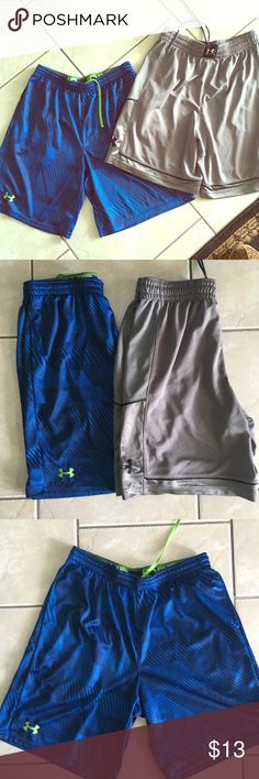 Bundle of 2 Men's Under Armor shorts Excellent condition--like new-- Under Armor shorts. No flaws, tears, stains, pulling or pulling. Size Large Under Armour Shorts Athletic