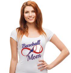 Baseball Mom Infinity | Baseball Shirt | Tee Shirt Galaxy | Love Baseball |