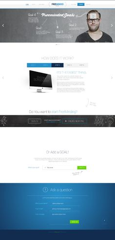 Bootstrap Style PSD Website Template