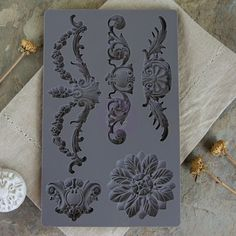 Prima - Iron Orchid Designs - Vintage Art Decor Mould - Baroque IOD by Prima silicone molds for beautifully dimensional vintagey baroque goodies to embellish your décor and craft projects. AND they play well with so many many types Diy Craft Projects, Fun Crafts, Diy And Crafts, Arts And Crafts, Paper Crafts, Decoration, Art Decor, Decoupage, Iron Orchid Designs