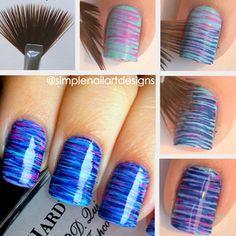 Fan Brush nail... So pretty!