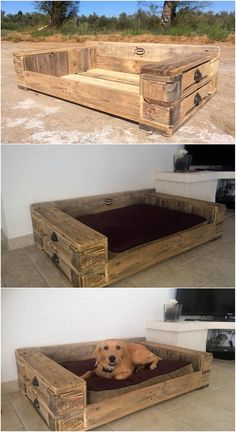 Bed framing design from wood pallet for your dog pet is somehow coming out to be one of the favorable options these days in so many house makers. Have a look at this bed frame dog wood pallet design! This do introduce the arrangement of wood pallet framework in the square broad shape.
