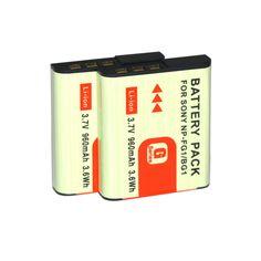 CONENSET 2PCSx960mah Battery for Sony DSC-W210 DSC-W215 DSC-W220 DSC-W230 DSC-W270 DSC-W275 DSC-W290 DSC-W300 Camera #Affiliate