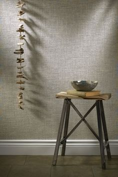 Woven wallpaper, gives a whole new look to a otherwise plain wall
