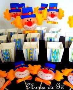 Centro de mesa festa Circo | Mimos da Gil | Elo7