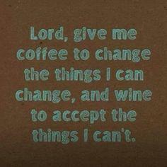 Minus the coffee