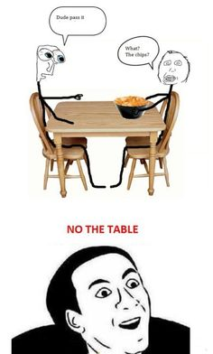 Why would anybody pass the table?
