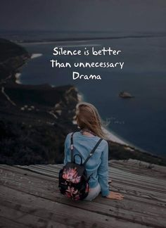 Silence is better than unnecessary drama Silence Quotes, Karma Quotes, Reality Quotes, Mood Quotes, Wisdom Quotes, Status Quotes, Positive Attitude Quotes, Good Thoughts Quotes, Postive Quotes