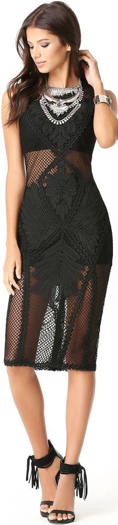 Black #lace #cocktail dress. women fashion @roressclothes closet ideas