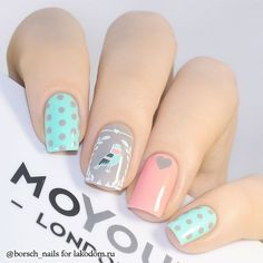 Cute Nail Designs An Ideas You Wish To Try, Nail art is one of our favorite things at the moment. Gone are the days when it was considered a girl's hobby. Now everyone's getting involved… Dream Nails, Love Nails, My Nails, Pastel Nails, Acrylic Nails, Nail Art Cute, Nailart, Floral Nail Art, Creative Nails