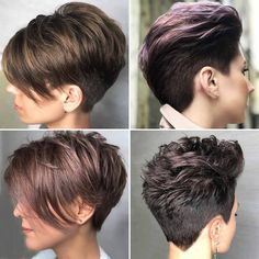 Short haircuts winter 2019 all the Trends - Frauen Haar Modelle Thick Hair Pixie, Messy Short Hair, Short Hair Undercut, Edgy Hair, Undercut Hairstyles, Hot Hair Styles, Curly Hair Styles, Hair Cutting Videos, Short Spiky Hairstyles