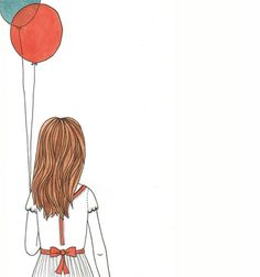 Bright Baby loves girl with balloons illustration. Kids Illustrations #BrightBaby www.bright-baby.com