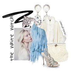 """""""The White Witch (The Lion the Witch and the Wardrobe)"""" by cornish-pixies ❤ liked on Polyvore featuring Too Faced Cosmetics, Givenchy, La Preciosa, Harrods, Dolce&Gabbana, Yves Saint Laurent and Sergio Rossi"""
