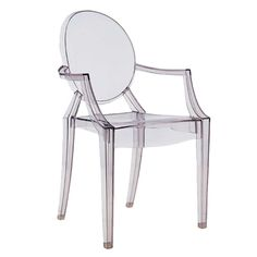 clear chair by Philippe Starck