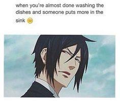 #anime #kuroshitsuji #blackbutler #sebastian #funny #meme #relatable