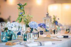 Décoration de mariage romantique bleu et lin Décoration et organisation : Féelicité - Photographies : Claude Masselot